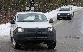volkswagen mini truck 2017 volkswagen amarok spied testing in winter conditions