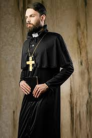 Christian Halloween Costumes Men U0027s Missionary Christian Church Priest Monk Dress U0026 Role Play