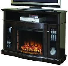 varnished wood tv stand with fireplace elliot media with realistic