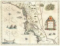 Map Of New England Coast by File 1635 Blaeu Map Of New England And New York 1st Depiction Of
