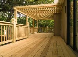 cedar and pressure treated deck and pergola pictures built by all