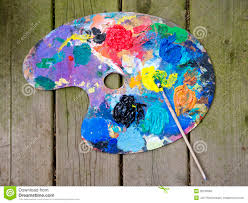 Paint Pallet by Artists Pallet And Brush Stock Photos Image 30165583
