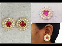 easy earrings diy simple and easy earrings beautiful earrings tutorial
