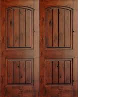 Knotty Pine Interior Doors Knotty Alder 2 Panel Top Rail Arch With V Grooves Interior