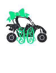 jeep off road silhouette side by side monogram decal atv decal yeti monogram southern