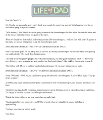 thanksgiving letter to husband thank you mcdonald u0027s life of dad