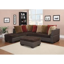 Colored Sectional Sofas by Jorge Sectional Sofa With Ottoman Chocolate Corduroy Brown Dcg