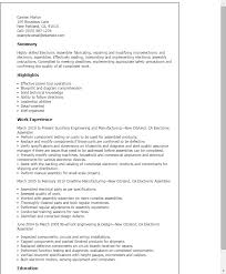 Manufacturing Resume Samples by Professional Electronic Assembler Templates To Showcase Your