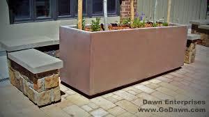 Concrete Rectangular Planter by 8 U0027 Rectangular Planter With Toe Kick Dawn Enterprises