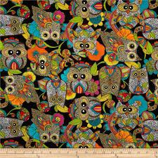Nest Home Decor Owl U0027s Nest Bright Discount Designer Fabric Fabric Com