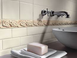 no 1534 white wall tiles with raised decors make an impact