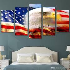 American Flag Decor 2018 New Usa Flag And Eagle Canvas Painting Modern Wall Art Print