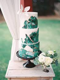 black white u0026 green wedding backyard wedding 100 layer cake
