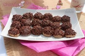 cuisine alg駻ienne gateaux oursins au chocolat gateaux algeriens sousoukitchen