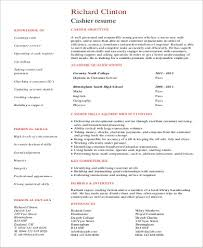 Resume For Cashier No Experience Cashier Resume Sample 8 Examples In Word Pdf