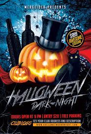 halloween dark night flyer mergeidea