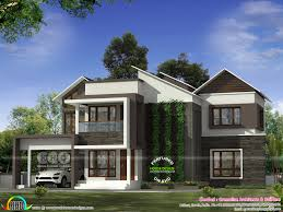 4 Bedroom Modern House Plans by 4 Bedroom Modern House With Vertical Garden Kerala Home Design