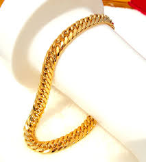 yellow gold bracelet with diamonds images Mens women 39 s 24k solid gold gf finish thick miami cuban link jpg
