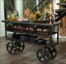 rustic kitchen trolley cart metal and wood kitchen trolley cart