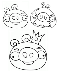 angry coloring page space yellow birds angry birds pigs coloring