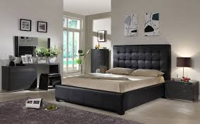 Bed Set Ideas Bedroom Ideas Black Leather Bed Home Delightful