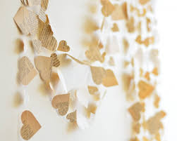 Wedding Backdrop Book Buy Paper Heart Garland From Vintage Book Try Handmade Gallery