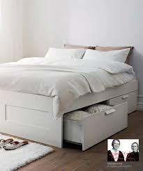King Size Bed Frame With Storage Underneath Brimnes Bed Ikea Drawer Storage Underneath Plus Can Put It