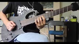 fanned fret 7 string death crystal mountain guitar cover ibanez rgif7 iron label 2015