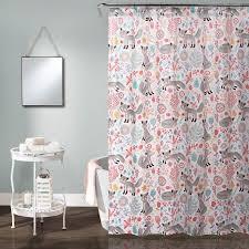 Shower Curtain At Walmart - pixie fox shower curtain gray pink walmart com