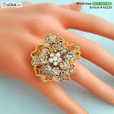 big flower rings images Flower shape jewelry and accessories uclick pk jpg