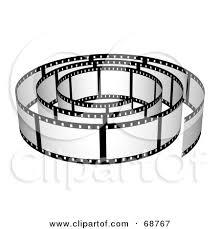 royalty free rf clipart illustration of a blank wavy film strip