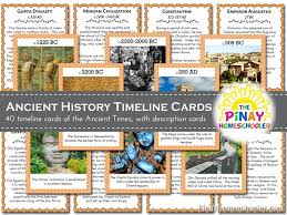 history timeline cards ancient times the homeschooler