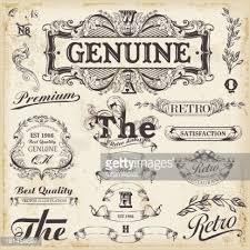 vintage design set of vintage design elements with text placements vector