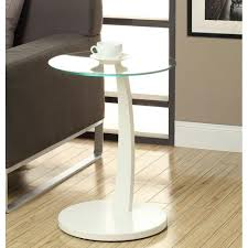 monarch specialties accent table monarch specialties bentwood white glass top end table i 3017 the