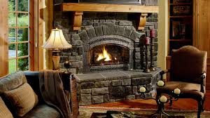 houses fireplace sitting place stone painting living room