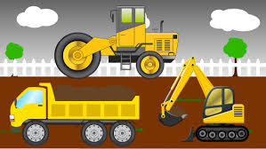 bigfoot presents meteor and the mighty monster trucks jcb truck and bulldozer fix the road monster trucks for children
