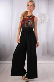 gaucho jumpsuit floral mesh one shoulder gaucho jumpsuit jumpsuits and