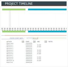 Excel Project Timeline Template Free Project Timeline Template 14 Free For Word Ppt Pdf