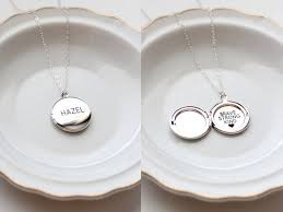 custom locket necklace personalized locket necklace medium engraved locket necklace