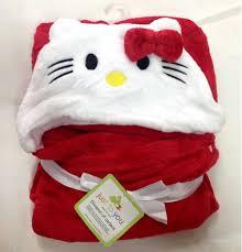 baby blanket hoodie red kitty fateeha kids shop