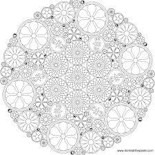 intricate mandalas coloring free download