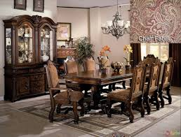 dining room suits bellefonte baroque brown cherry sleigh bedroom set with intricate