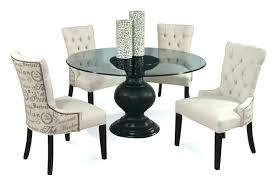 Round Glass Top Pedestal Table 60 Round Glass Top Dining Table Pedestal 30 X Rectangular Gls Inch