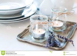 provence style table setting stock images image 34780174