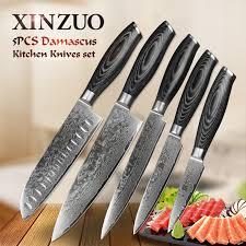 cheap kitchen knives set aliexpress buy xinzuo 5pcs kitchen knives set 67 layer
