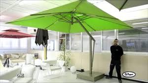 Large Cantilever Patio Umbrella Poggesi Usa One Large Cantilever Garden Umbrella Youtube