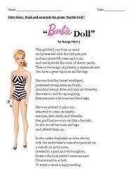 Barbie Doll Poem Analysis
