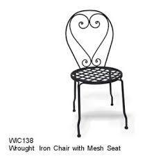 Wrought Iron Mesh Patio Furniture by Dc America Soho Wrought Iron Chair W Mesh Seat Outdoor Living
