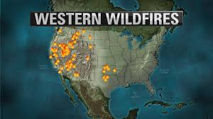 Western Us Map 70 Large Fires Burn In 13 Western States Cause Haze In Colorado