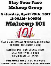 makeup classes birmingham al slay your makeup 101 workshop part 1 tickets sat apr 29